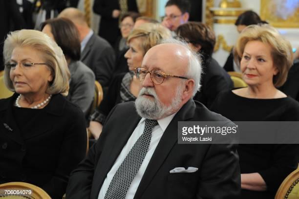 Polish classical music composer Krzysztof Penderecki and his wife Elzbieta Penderecka at Wladyslaw Bartoszewski's 90th birthday celebration at the...