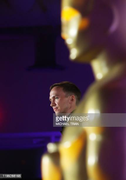 Polish director Jan Komasa attends the Oscars International Feature Film nominees cocktail reception at the Academy Museum of Motion Pictures in Los...