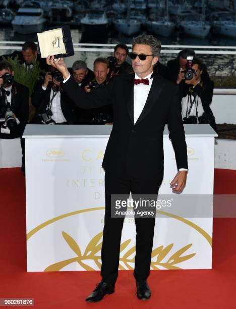 Polish director Pawel Pawlikowski poses with his Best Director Prize for the film 'Cold War' at the 71st annual Cannes Film Festival in Cannes France...