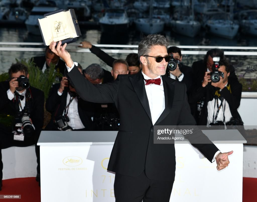 Polish director Pawel Pawlikowski poses with his Best Director Prize for the film 'Cold War' at the 71st annual Cannes Film Festival in Cannes, France on May 19, 2018.