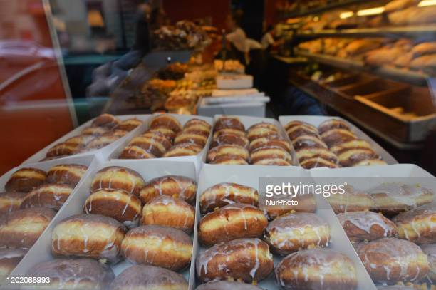 Polish doughnuts seen for sale on Fat Thursday in Krakow Every February Poland and Poles 'go nuts' for doughnuts on Fat Thursday the last Thursday...