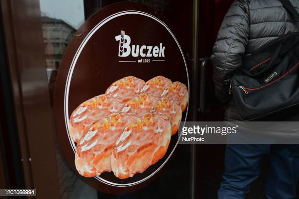 Polish doughnuts seen on Krakow's Buczek Bakery on Fat Thursday Every February Poland and Poles 'go nuts' for doughnuts on Fat Thursday the last...