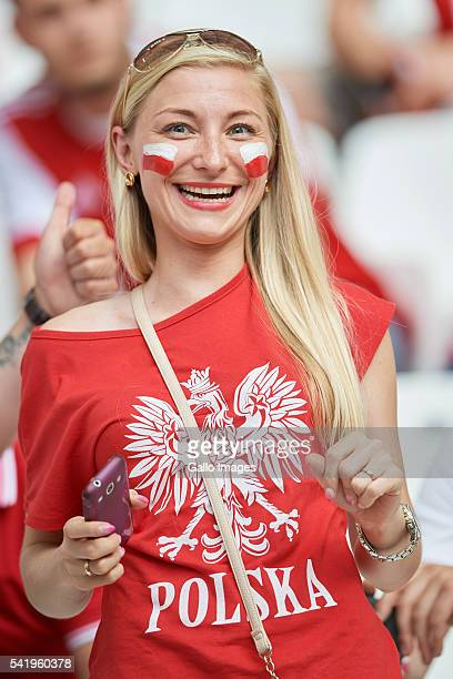 Polish fan before the UEFA Euro 2016 Group C match between Ukraine and Poland at Stade Velodrome on June 21 2016 in Marseille France