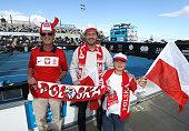 hobart australia polish fans pose during