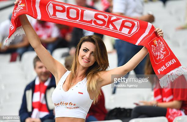 Polish fans support their team before the UEFA Euro 2016 Group C match between Germany and Poland at Stade de France in Paris France on June 16 2016