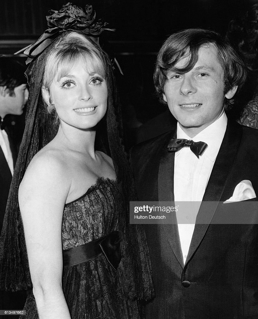 Polish film director and actor Roman Polanski with his wife, American actress Sharon Tate at the London premiere of Polanski's latest film Cul-de-Sac, 1966.