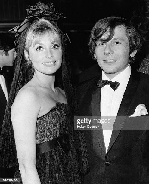 Polish film director and actor Roman Polanski with his wife American actress Sharon Tate at the London premiere of Polanski's latest film CuldeSac...