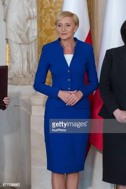 Polish First Lady Agata Kornhauser-Duda during the 'Order of the White Eagle' award ceremony on 226th anniversary of the passage of Poland's 03 May...