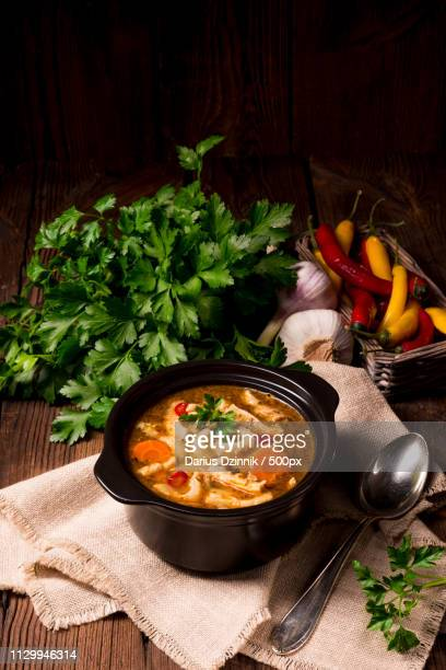 polish flaczki - tripe stock pictures, royalty-free photos & images