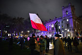 polish flag is waved to commemorate