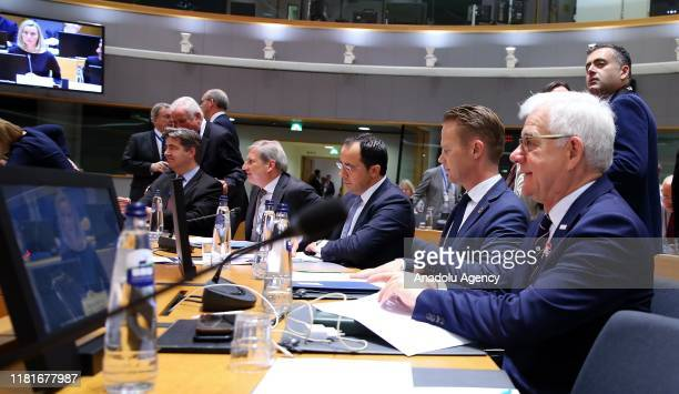 Polish Foreign Minister Jacek Czaputowicz attends the Foreign Affairs meeting at the European Union Headquarters in Brussels on November 11 2019