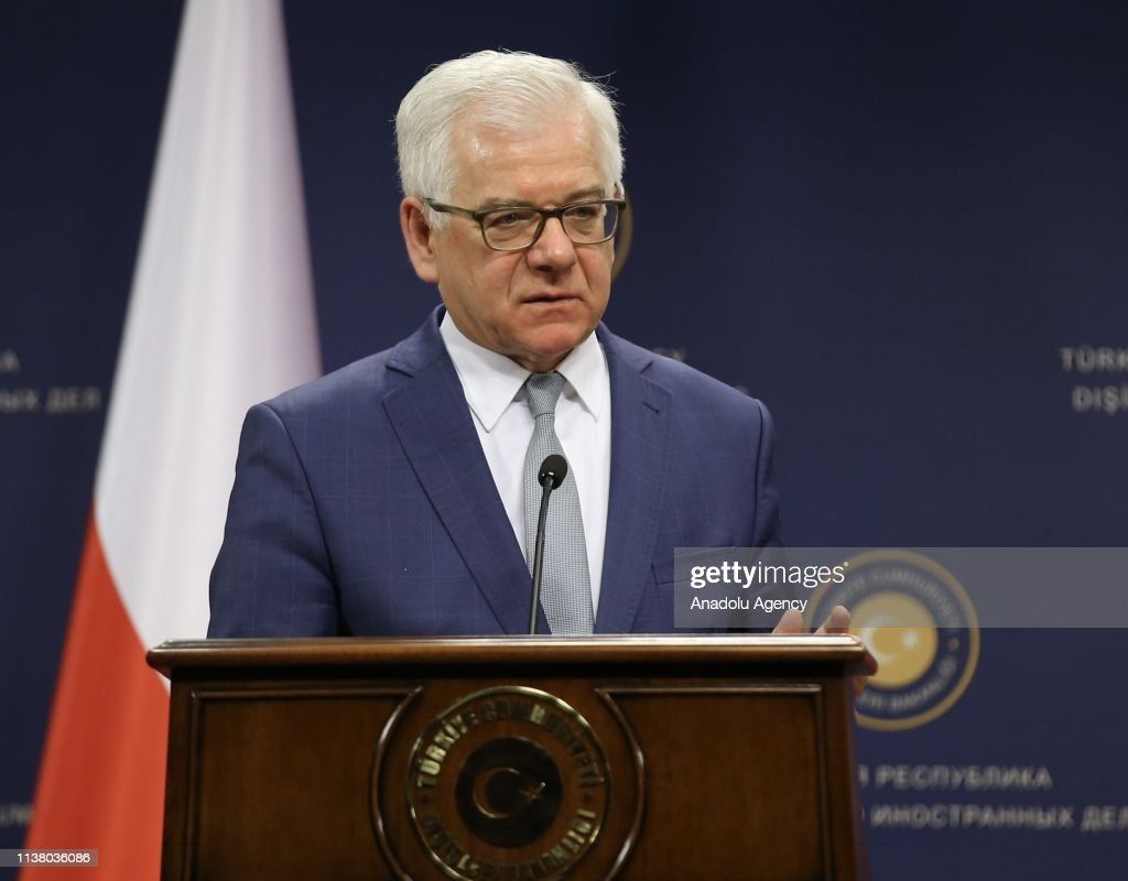The Trilateral Meeting of Foreign Ministers of Turkey, Poland and Romania : News Photo