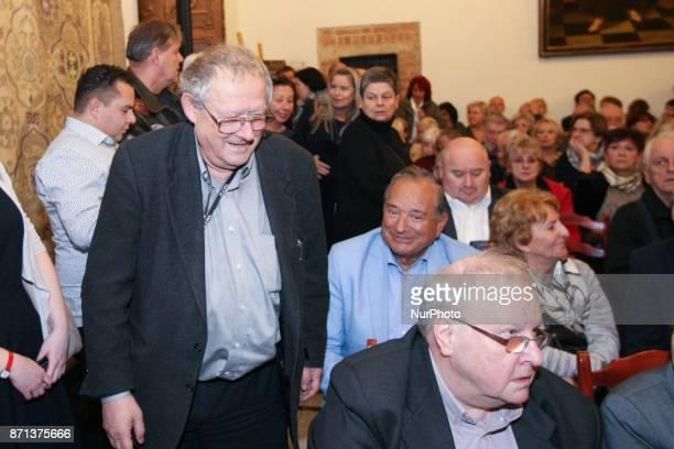 Polish historian essayist former dissident public intellectual and editorinchief of the Polish newspaper Gazeta Wyborcza Adam Michnik is seen in...
