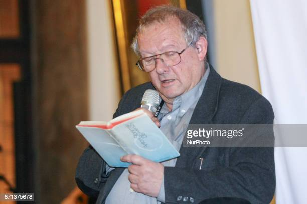 Polish historian essayist former dissident public intellectual and editorinchief of the Polish newspaper Gazeta Wyborcza Adam Michnik is seen in...