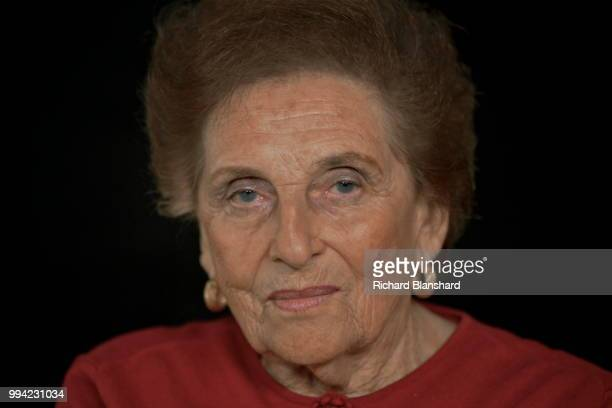 Polish Holocaust survivor Mania Salinger takes part in the Andre Singer documentary 'Night Will Fall' 2014