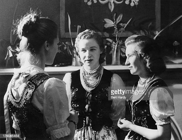 Polish immigrants at an entertainment in national costume held at the Polish ExServicemen's Club in Glasgow Scotland March 1955 Original publication...