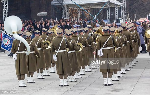 polish independence day in warsaw - polish culture stock photos and pictures