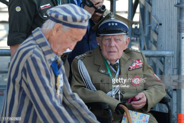 Polish military veteran and a concentration camp survivor attend an international ceremony to commemorate the 80th anniversary of the outbreak of...