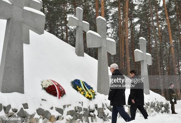 Polish Minister of Foreign Affairs Jacek Czaputowicz and his Ukrainian counterpart Pavlo Klimkin pay tribute to the victims of Communist terror...