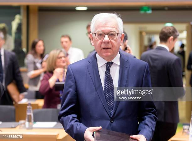 Polish Minister of Foreign Affairs Jacek Czaputowicz attends an EU Foreign Affairs Council and Eastern Partnership Ministerial meeting in the Europa...