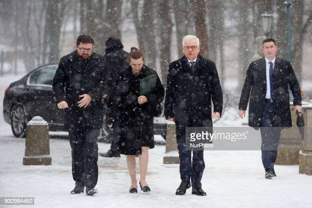 Polish Minister of Foreign Affairs Jacek Czaputowicz before the meeting with German Minister of Foreign Affairs Heiko Maas at Lazienki Palace in...