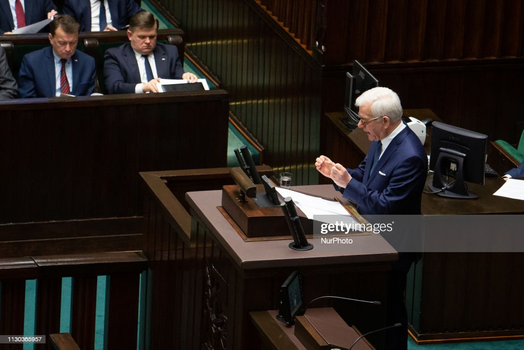 Poland's Foreign Minister's Statement In Parliament : News Photo
