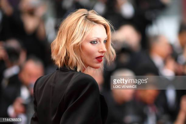 TOPSHOT Polish model Anja Rubik poses as she arrives for the screening of the film Dolor Y Gloria at the 72nd edition of the Cannes Film Festival in...