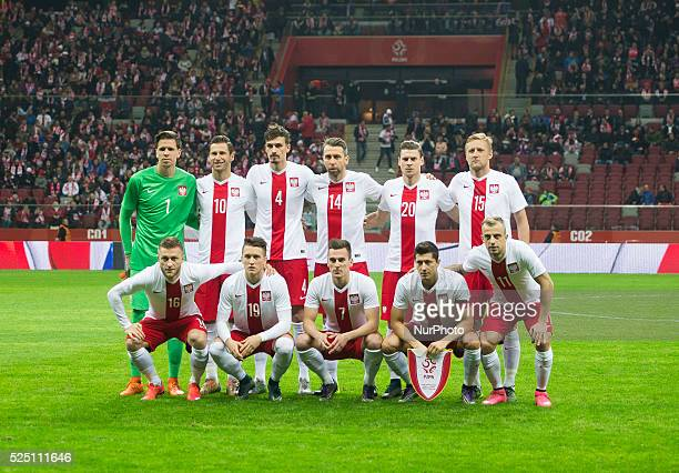 Polish national football team during the friendly match between Poland and Iceland at the National Stadium on November 13 2015 in Warsaw Poland