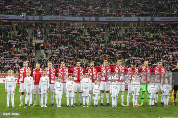 Polish national team during International Friendly match between Poland and Czech Republic on November 15, 2018 in Gdansk, Poland.