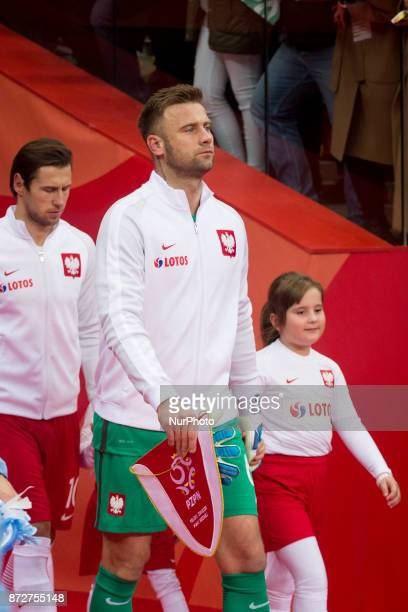 Polish national team goalkeeper Artur Boruc attend his last game for the national team during the international friendly soccer match between Poland...