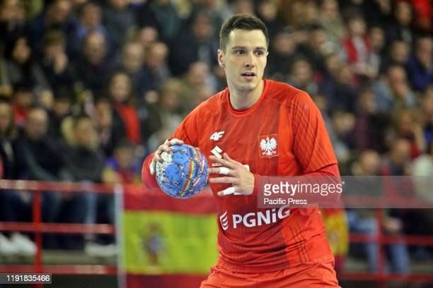 Polish player Maciej Pilitowski with the ball during the second day of the XLV International Tournament of Spain 2020 between Spain and Poland with a...