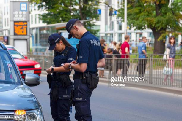 polish police officers - poland stock pictures, royalty-free photos & images