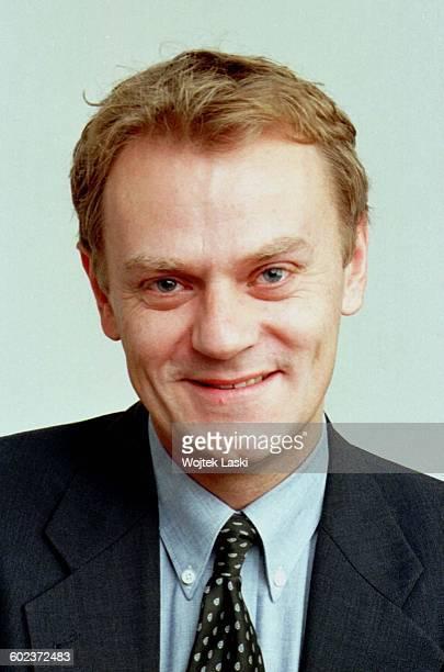 Polish politician Donald Tusk as Senator Warsaw Poland 1998