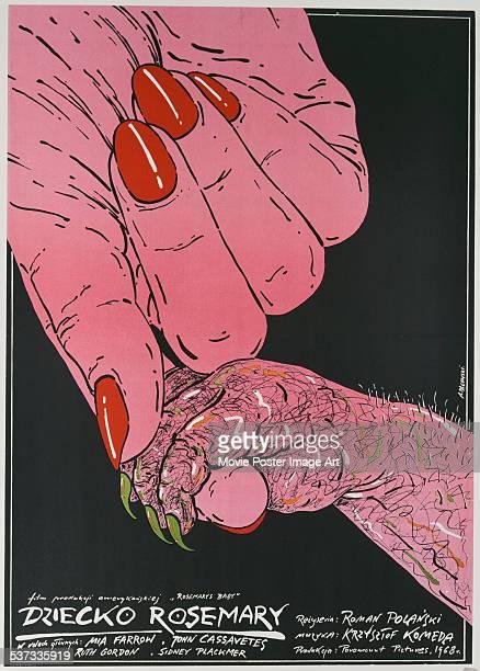 A Polish poster for Roman Polanski's 1968 horror film 'Rosemary's Baby'