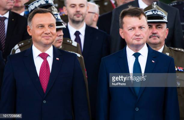 People are seen at the display of millitary hardware organized by the Polish Military Museum on Armed Forces Day in Waraw Poland on August 15 2018