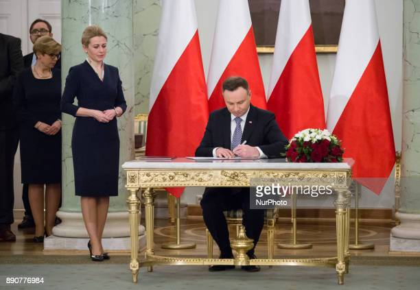 Polish President Andrzej Duda during the new Polish Government appointment ceremony in Presidential Palace in Warsaw Poland on 11 December 2017