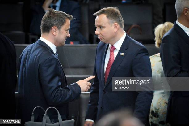 Polish president Andrzej Duda is seen during the 2018 NATO Summit in Brussels Belgium on July 11 2018