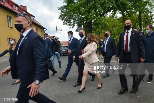 Polish President Andrzej Duda seen during his visit to Alwernia On May 27 in Alwernia County Chrzanow Lesser Poland Voivodeship Poland