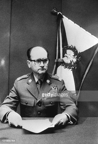 Polish Prime Minister General Jaruzelski announces that he clamps a martial law and the formation of a Military Council of National Salvation during...