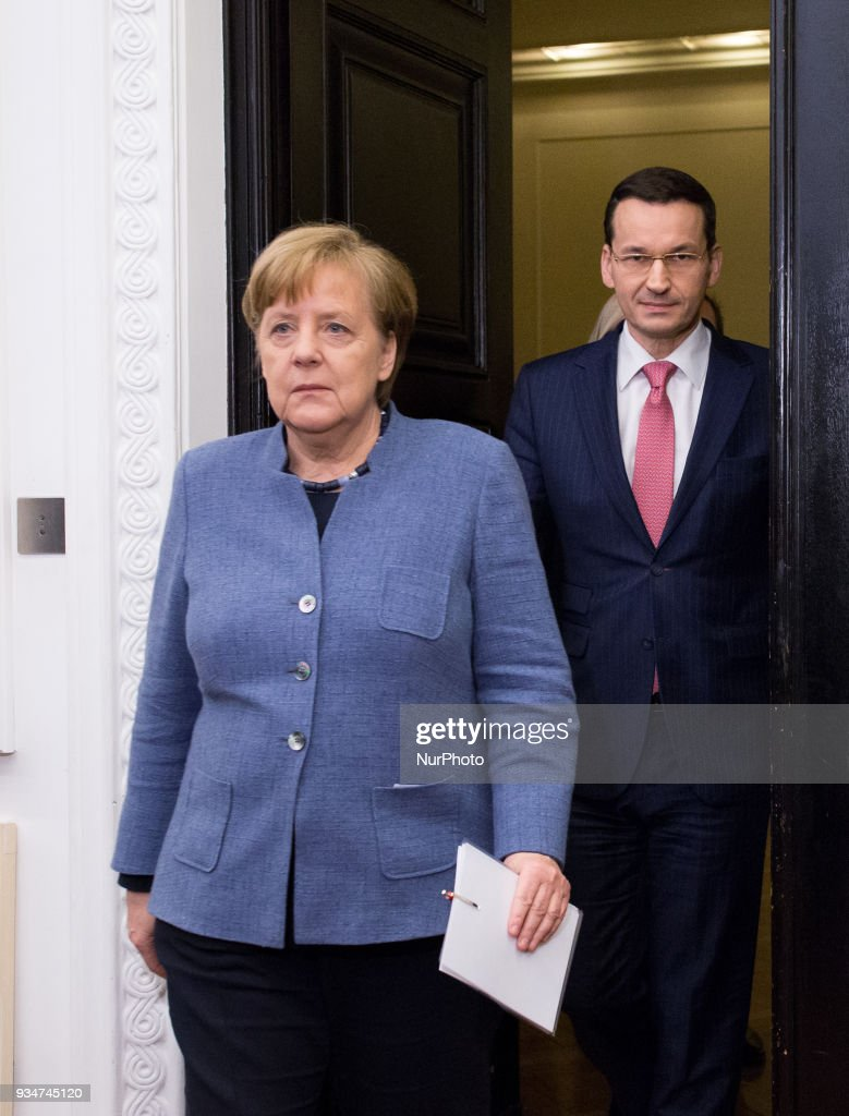 German Chancellor Angela Merkel visit Warsaw
