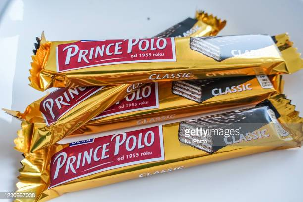 Polish Prince Polo chocolate bars are seen in Gdynia, Poland on 18 January 2021