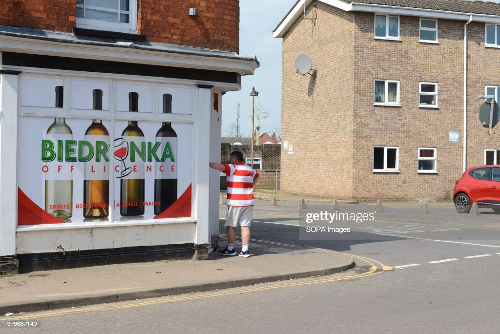 A Polish shop in the suburbs of Boston, Lincolnshire. The... : News Photo
