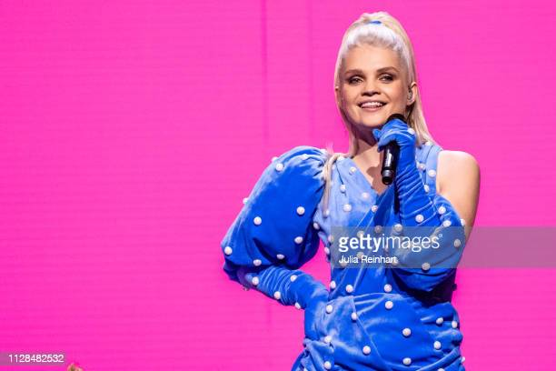 Polish singer Margaret participates in the second heat of Melodifestivalen Sweden's competition to select the country's representative at the...
