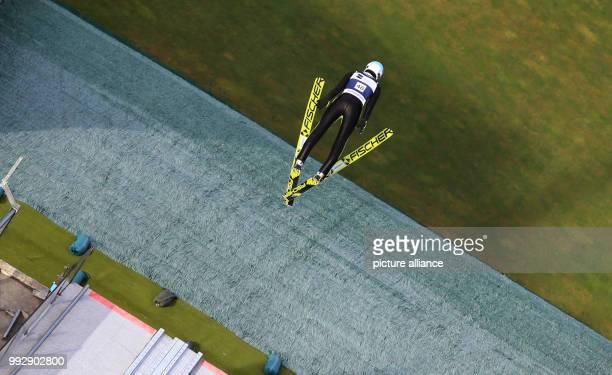 Polish ski jumper Kamil Stoch in action at the Erdinger Arena in Oberstdorf Gemrany 26 October 2017 Photo KarlJosef Hildenbrand/dpa