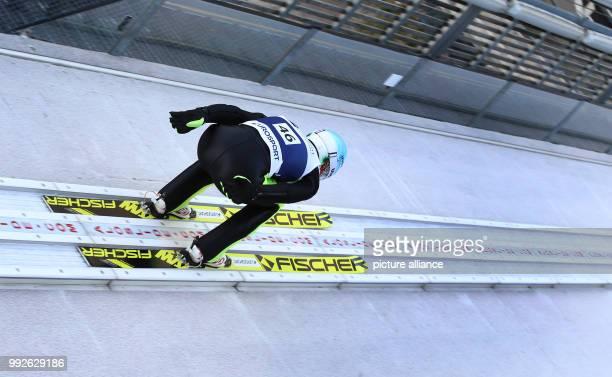 Polish ski jumper Kamil Stoch in action in the Erdinger Arena in Oberstdorf Germany 26 October 2017 Photo KarlJosef Hildenbrand/dpa