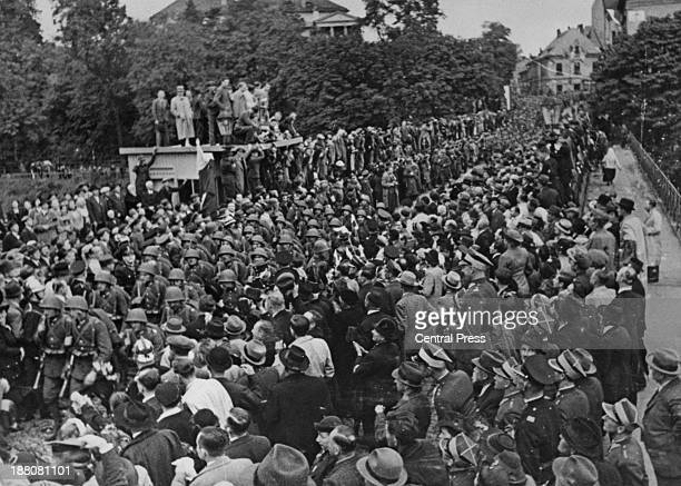 Polish troops annexe the town of Cesky Tesin during the Sudeten Crisis which followed the Munich Agreement 4th October 1938