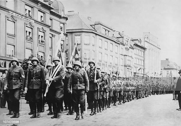 Polish Troops Getting In Cieszyn In Poland