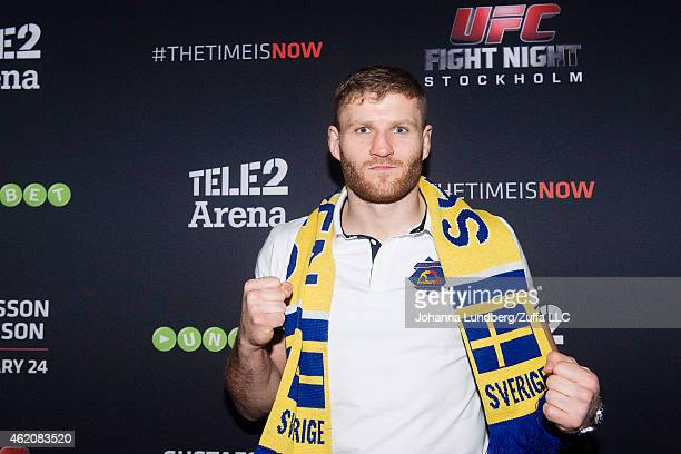 Polish UFC fighter Jan Blachowicz during the UFC Fight Night event at the Tele2 Arena on January 24 2015 in Stockholm Sweden