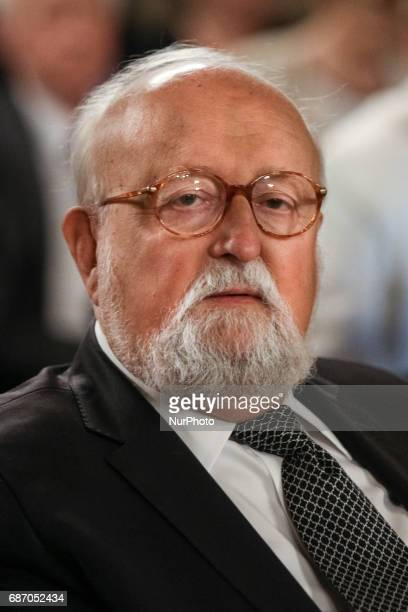 A Polish world famous composer and conductor Krzysztof Penderecki during award ceremony at the Wawel Castle in Krakow Poland on 22 May 2017 Krzysztof...