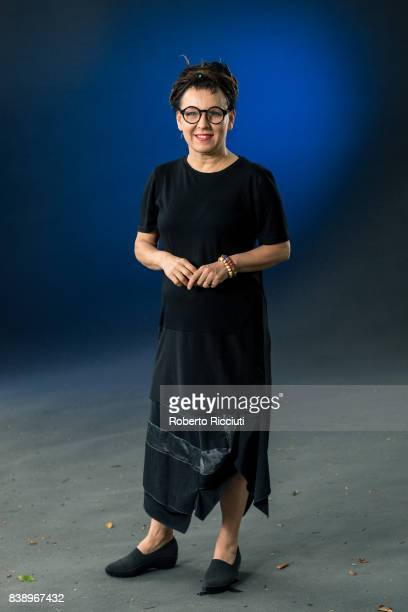 Polish writer and critic Olga Tokarczuk attends a photocall during the annual Edinburgh International Book Festival at Charlotte Square Gardens on...